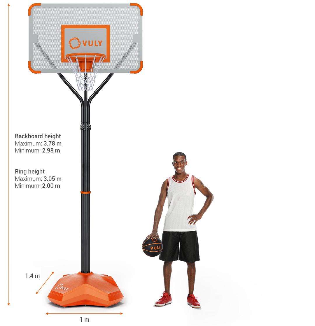 Basketball Hoop Ring Vuly Slam Pro Dimensions Diagram