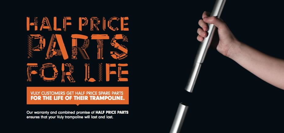 Half price trampoline parts for life