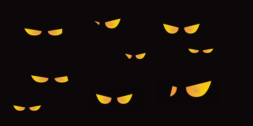 Glowing eyes Halloween decoration