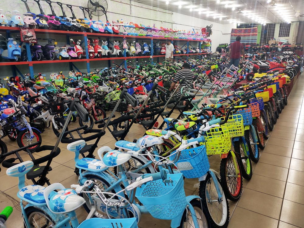 A range of different kids bike variants