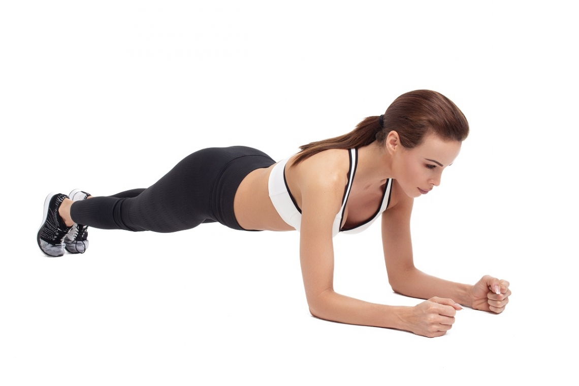 Woman doing a planking exercise