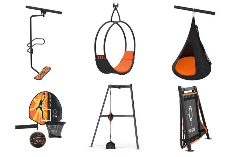 A selection of Vuly swing set accessories