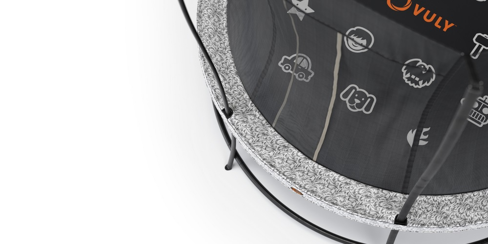 Top view of a Vuly kids trampoline