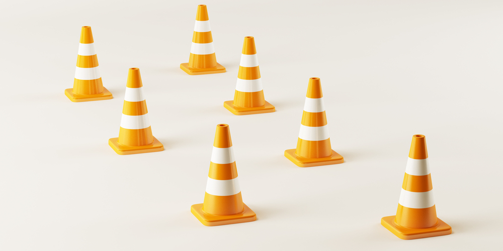 trampoline-obstacle-course-traffic-cones