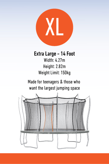 Information about extra large Vuly trampoline
