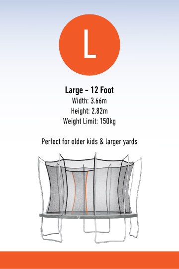 Information about large Vuly Thunder trampoline