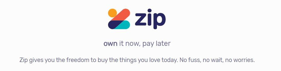 Zip logo - own it now, pay later