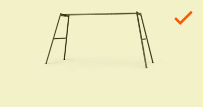 Large Outdoor Swingset Frame