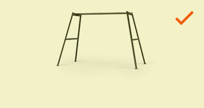 Medium Outdoor Swingset Frame