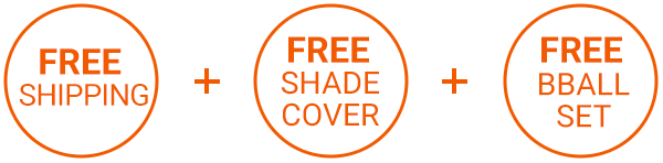 Free Shade Cover, shipping and bball set