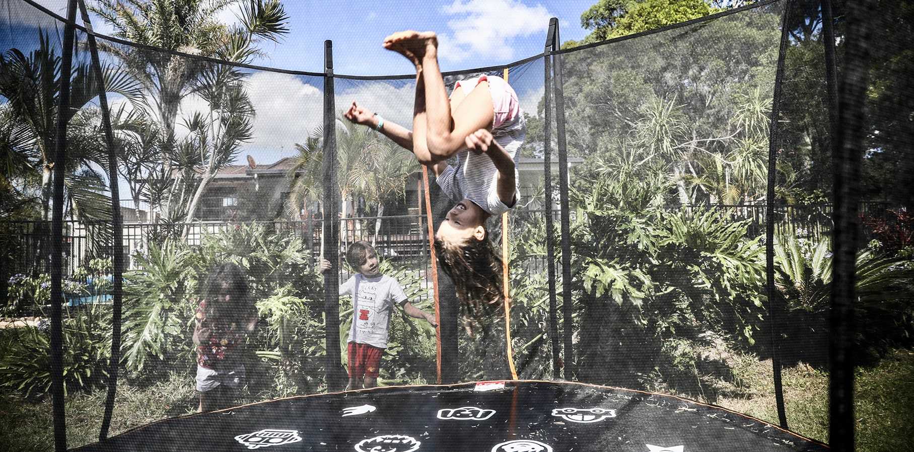 Girl jumping on a Thunder Pro trampoline