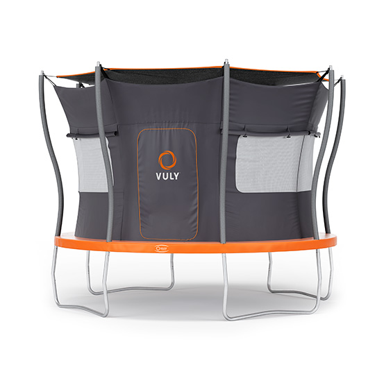 Turn your trampoline into a backyard camping spot.