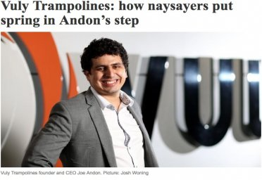 Vuly Trampolines: How naysayers put spring in Andon's step