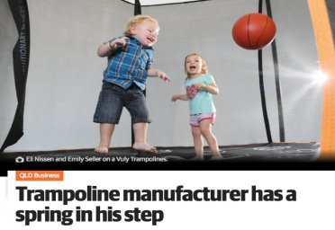Trampoline manufacturer has a spring in his step