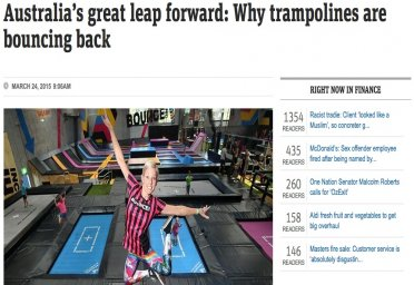 Australia's great leap forward: Why trampolines are bouncing back