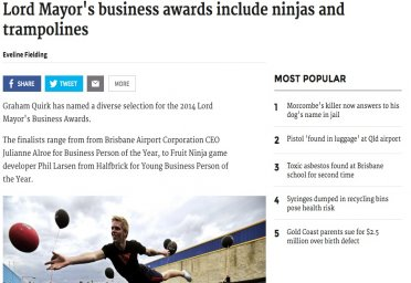 Lord Mayor's business awards include ninjas and trampolines