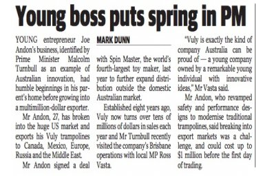 Young boss puts spring in PM