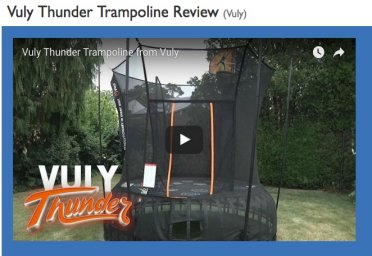 Vuly Thunder Trampoline from Vuly