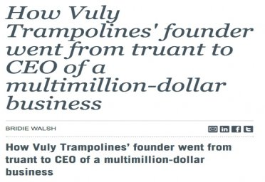 How Vuly Trampolines' founder went from truant to CEO of a multimillion-dollar business