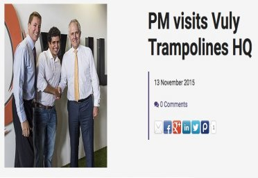 PM visits Vuly Trampolines HQ