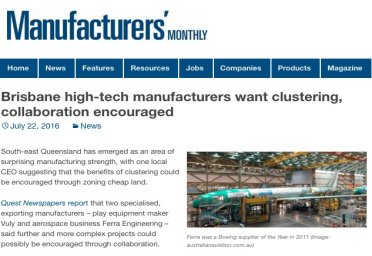 Brisbane high-tech manufacturers want clustering, collaboration encouraged