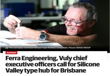 Ferra Engineering, Vuly chief executive officers call for Silicone Valley type hub for Brisbane