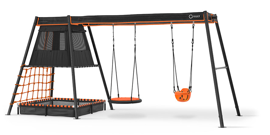 Cubby + Swing Set