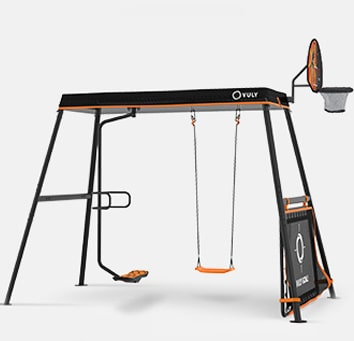 Swing set backyard play equipment