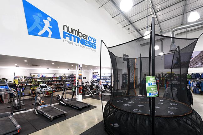 Vuly Thunder Summer trampoline on display at Number One Fitness store in New Zealand.