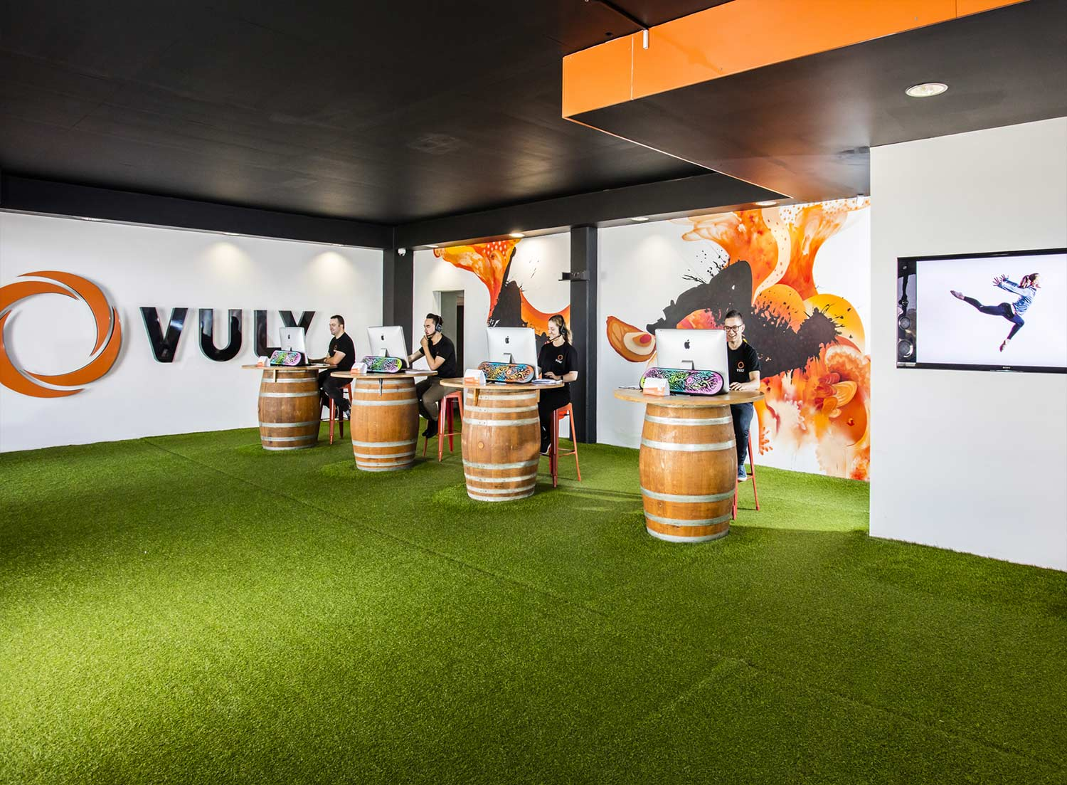 The Vuly trampoline showroom at Wakerly, Brisbane.