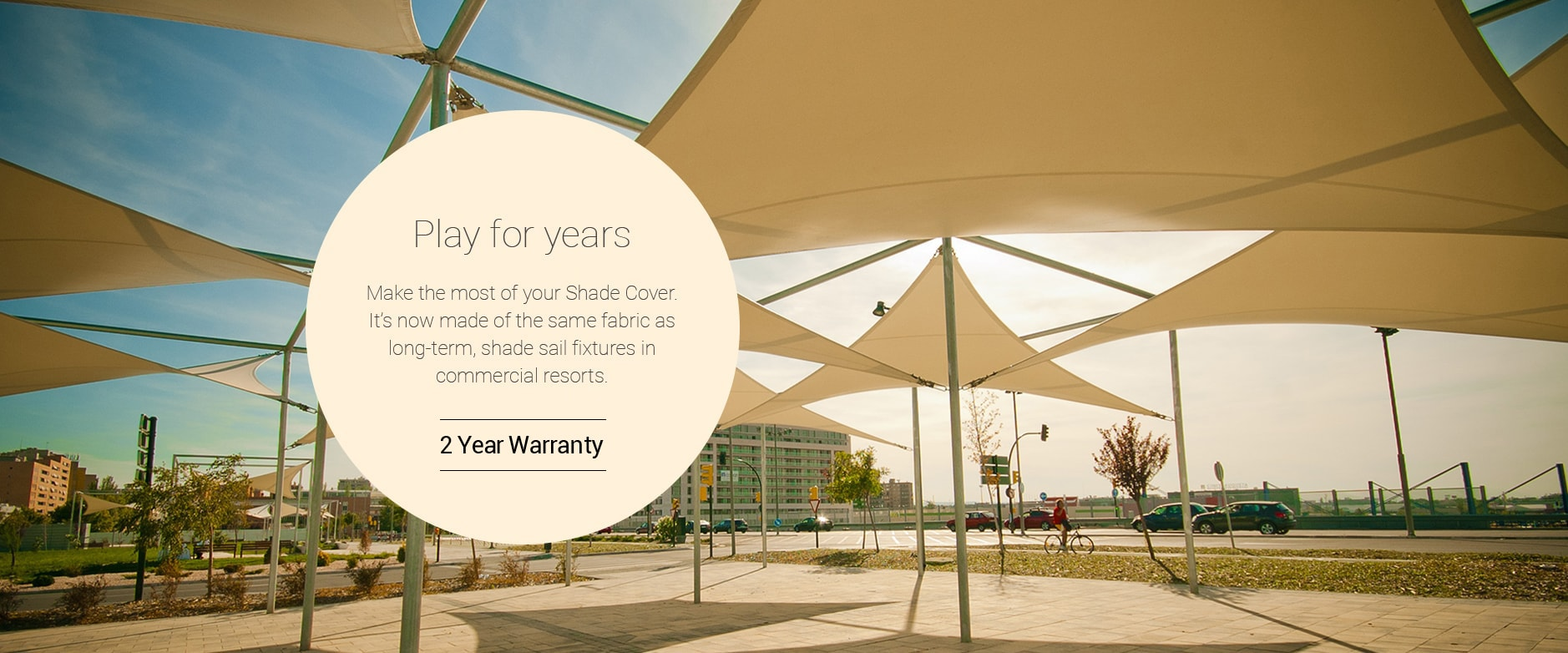 Our new Shade Covers are now made of the same fabric as long-term, shade sail fixtures in commercial resorts.
