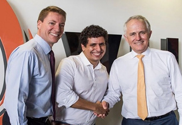 Prime Minister Malcolm Turnbull Visits Young Entrepreneur's Trampoline Headquarters