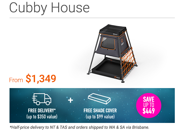 Backyard cubby house for your playset.