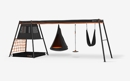 Max C3 +3 swings (Cubby,bounce,yoga) with hanging cubby, bounce and yoga swings