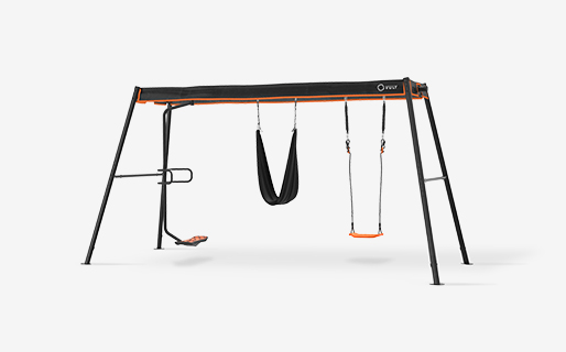 Max Large Swingset + 3 Swings (spin,yoga,seat) with spin, seat and yoga swings