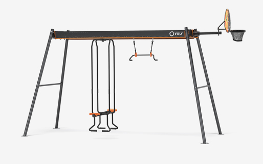 Medium Mini with yoga and seesaw swings