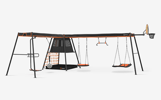 LShaped 3C2 + 5 swings(spin,wrecking,nestM,monkey & bed)