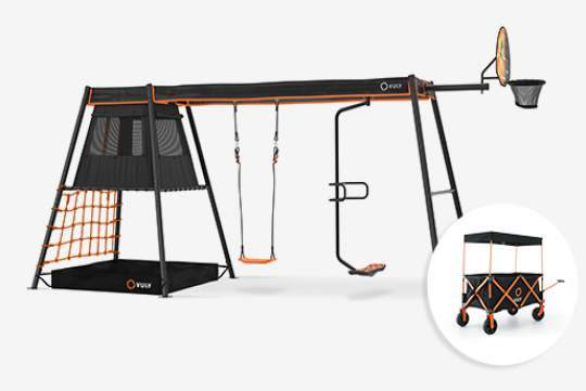 360 Pro™ Max Swing Set sizes