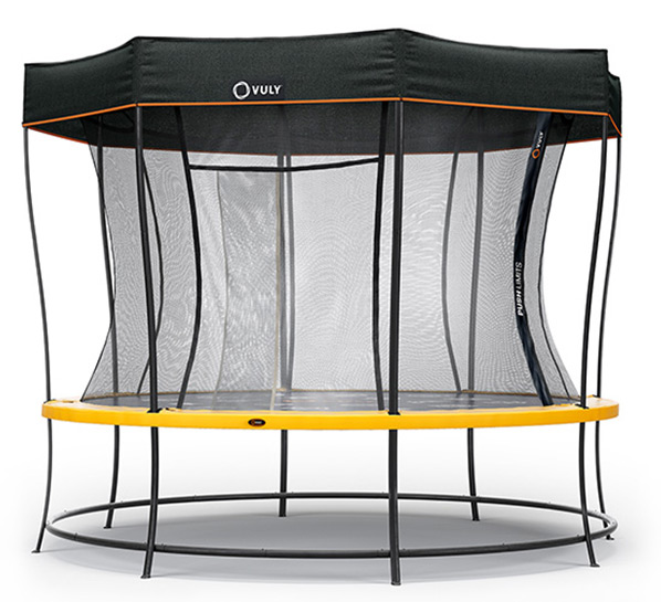 Large Trampoline with Shade Cover