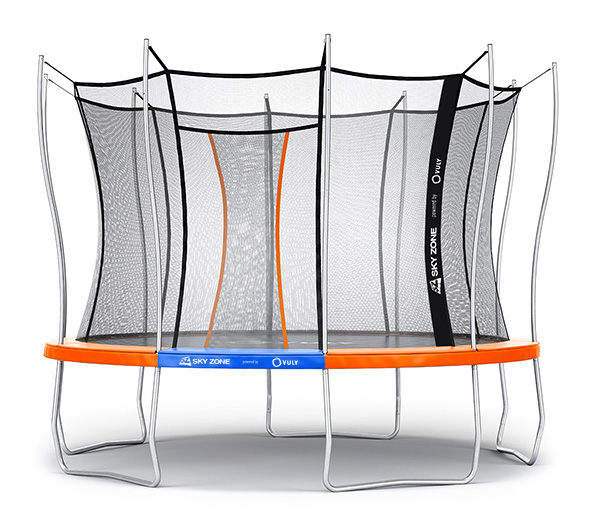 UV-Resistant Netting and Self-Closing Door Vuly Ultra Trampoline with Extra-Tall Enclosure