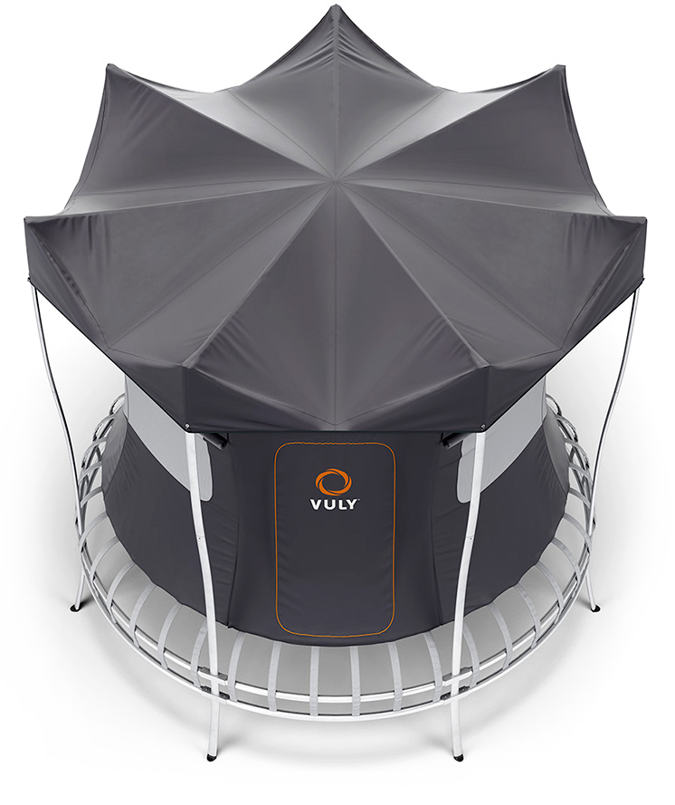 Shade Cover allows full airflow through your trampoline